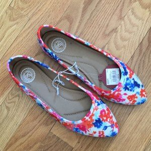 SO Shoes - SO Hitide Pointed Toe Flats Multi New